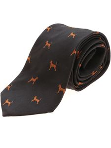 Paul Smith - Tie Dogs tie in brown