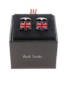 Paul Smith - Flag cufflinks in anthracite color