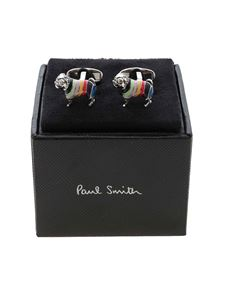 Paul Smith - Jumper Dog cufflinks in silver color