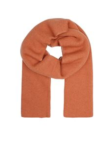 Le Tricot Perugia - Doble face scarf in orange and beige
