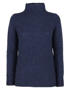 Le Tricot Perugia - Tricot effect turtleneck in blue