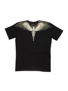 Marcelo Burlon Kids - T-shirt stampa Wings nera