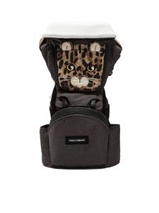 Dolce & Gabbana Jr - Leopard MiaMily baby carrier in grey