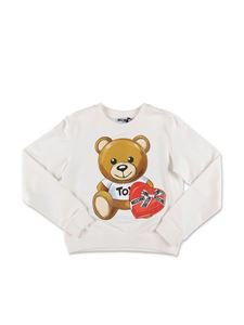Moschino Kids - White Teddy Bear sweatshirt