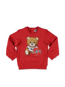 Moschino Kids - Red Teddy Bear sweatshirt