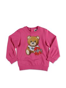 Moschino Kids - Felpa Teddy Bear fucsia
