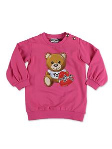 Moschino Kids - Abito Teddy Bear fucsia