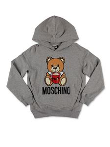 Moschino Kids - Teddy Bear hoodie in grey