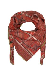 Etro - Printed scarf in red