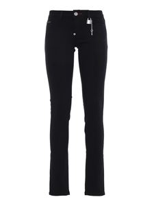 Philipp Plein - Skinny jeans with skull button