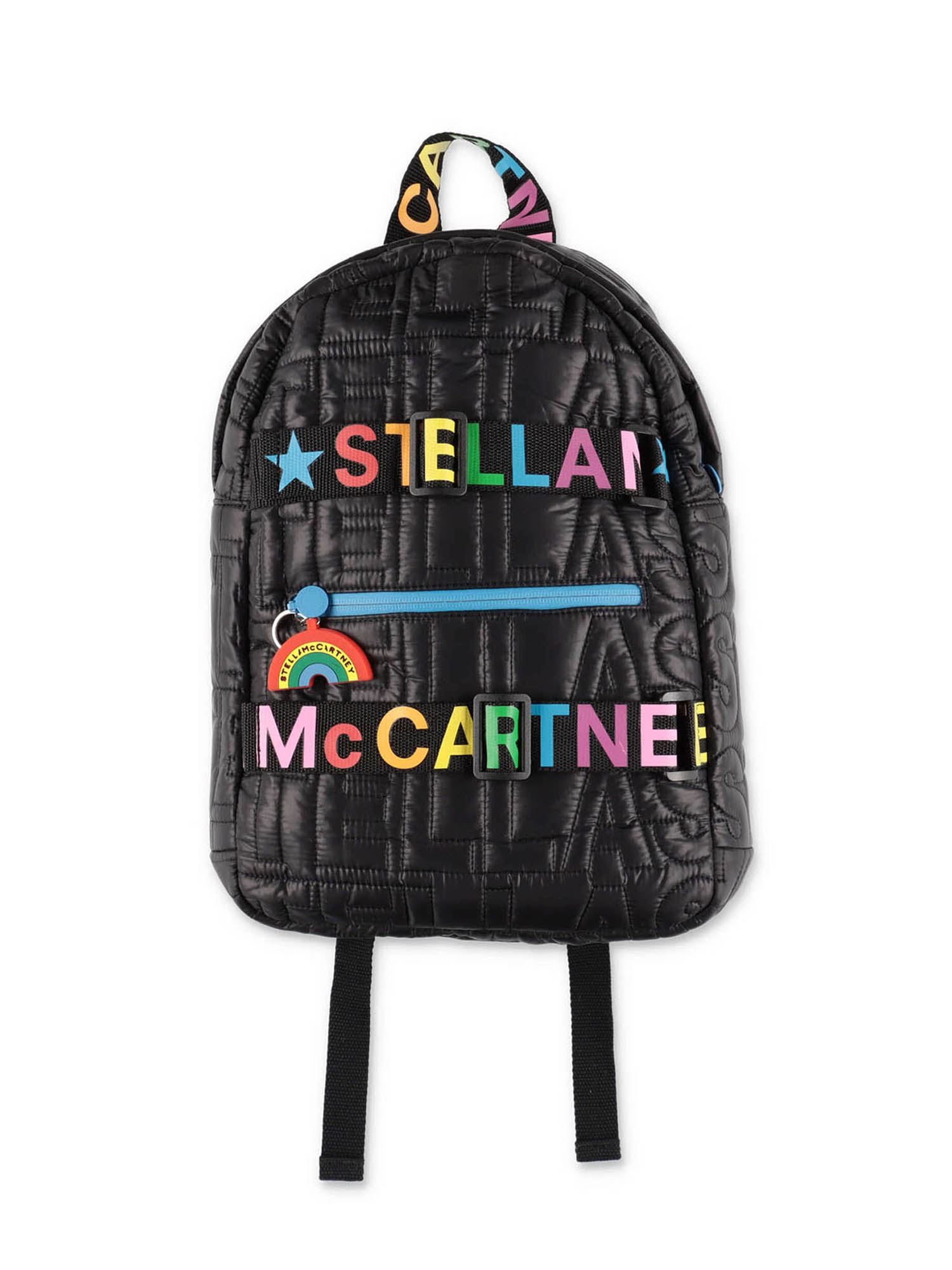 STELLA MCCARTNEY BLACK QUILTED BACKPACK
