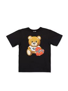 Moschino Kids - Black Teddy Bear T-shirt