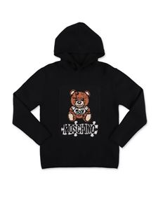 Moschino Kids - Teddy Bear hooded sweater in black