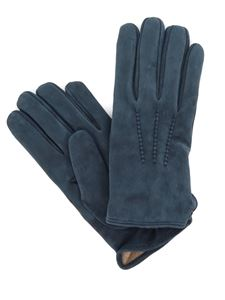 Eleventy - Buttoned suede gloves