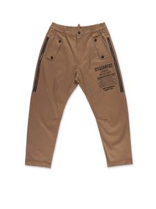 Dsquared2 - Brown pants with zip