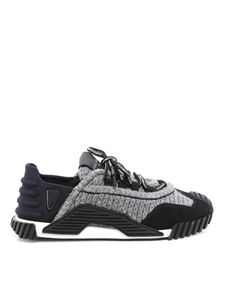 Dolce & Gabbana - Wool and suede sneakers