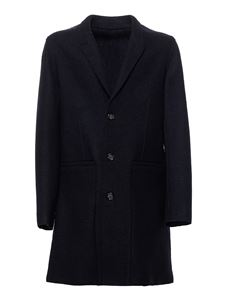Paolo Pecora - Woolen cloth coat in blue