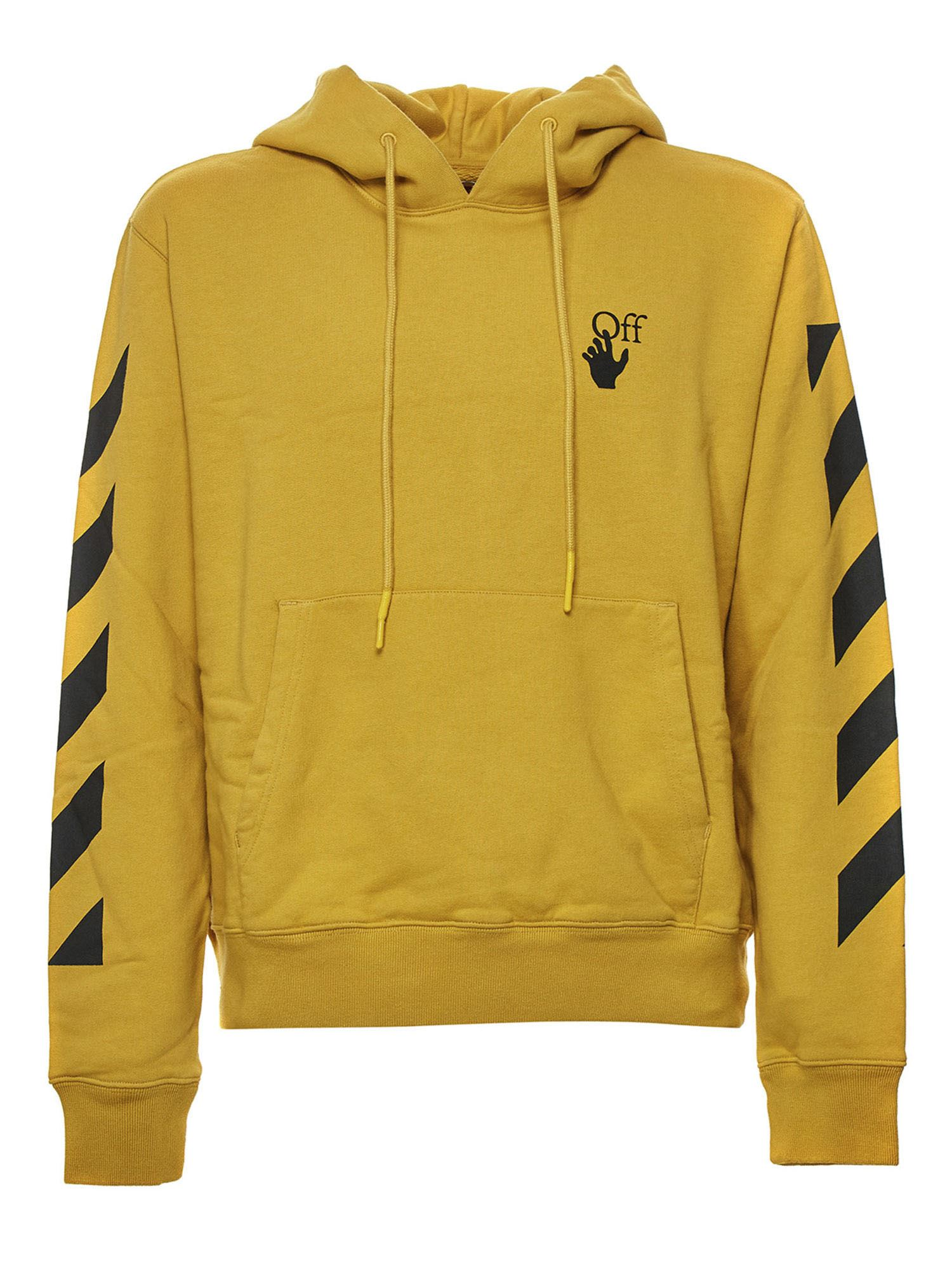 Off-White BRANDED HOODIE IN YELLOW