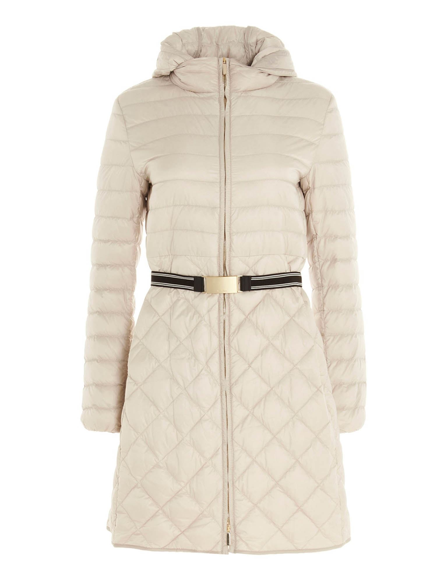 Max Mara TREV LONG DOWN JACKET IN WHITE