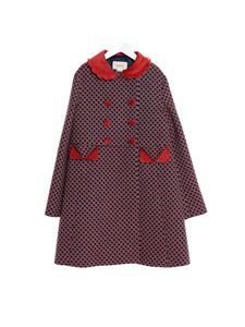Gucci - All over logo coat in blue and red