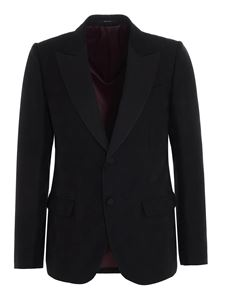 Gucci - GG diagonal jaquard blazer in black