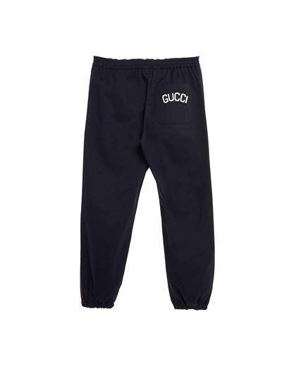 Gucci - Red bands pants in blue