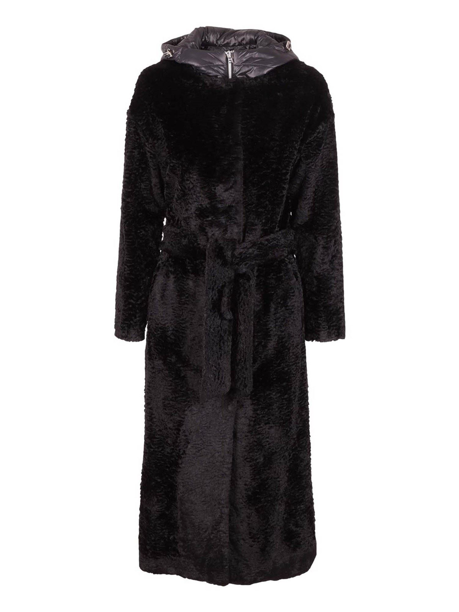 Herno FAUX FUR LONG COAT