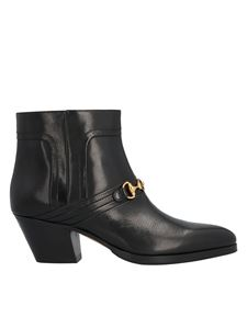 Gucci - GG horsebit ankle boots in black