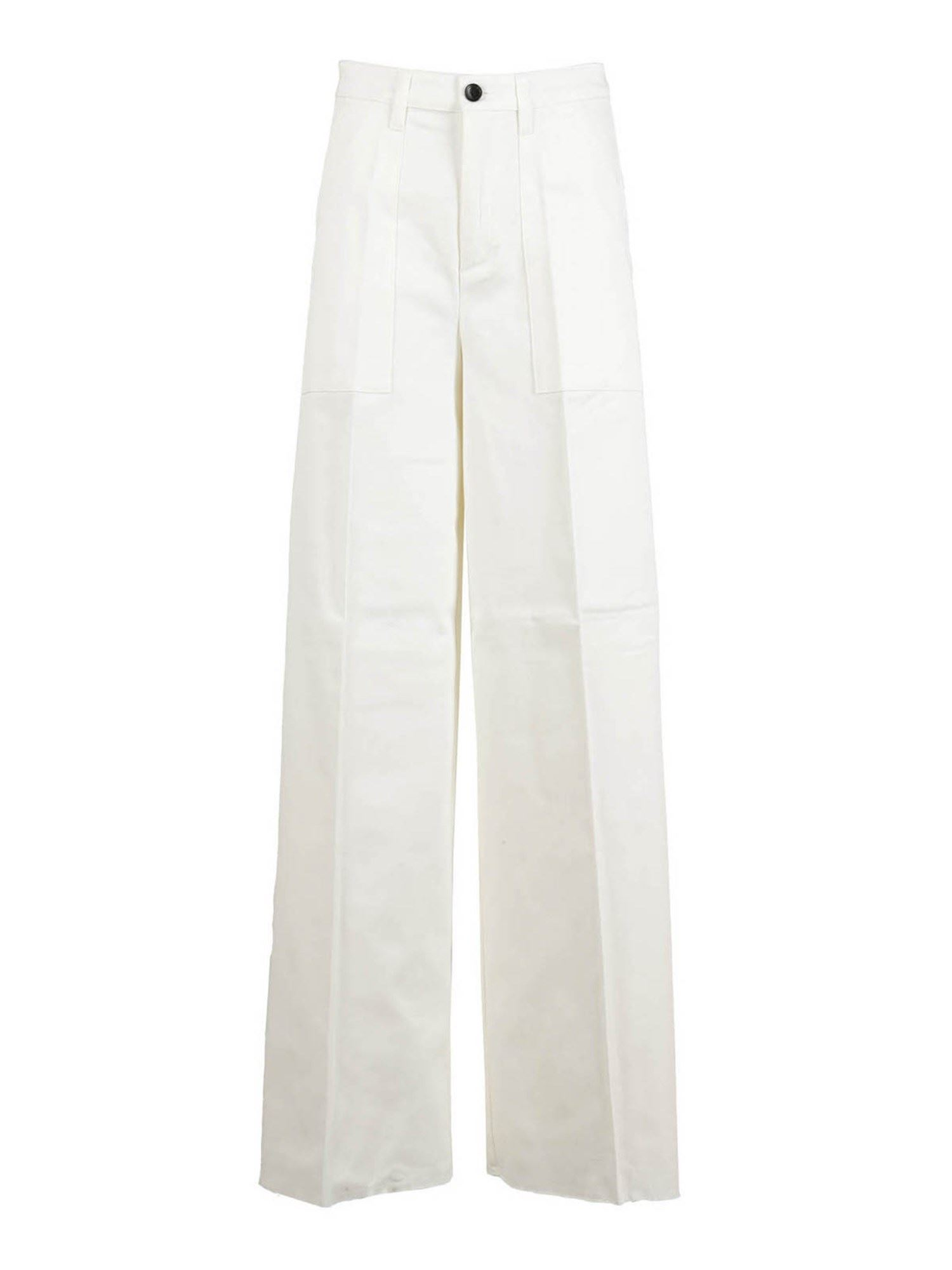 Department 5 STRETCH COTTON PALAZZO TROUSERS