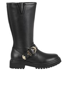 Versace Jeans Couture - Leather combat boots