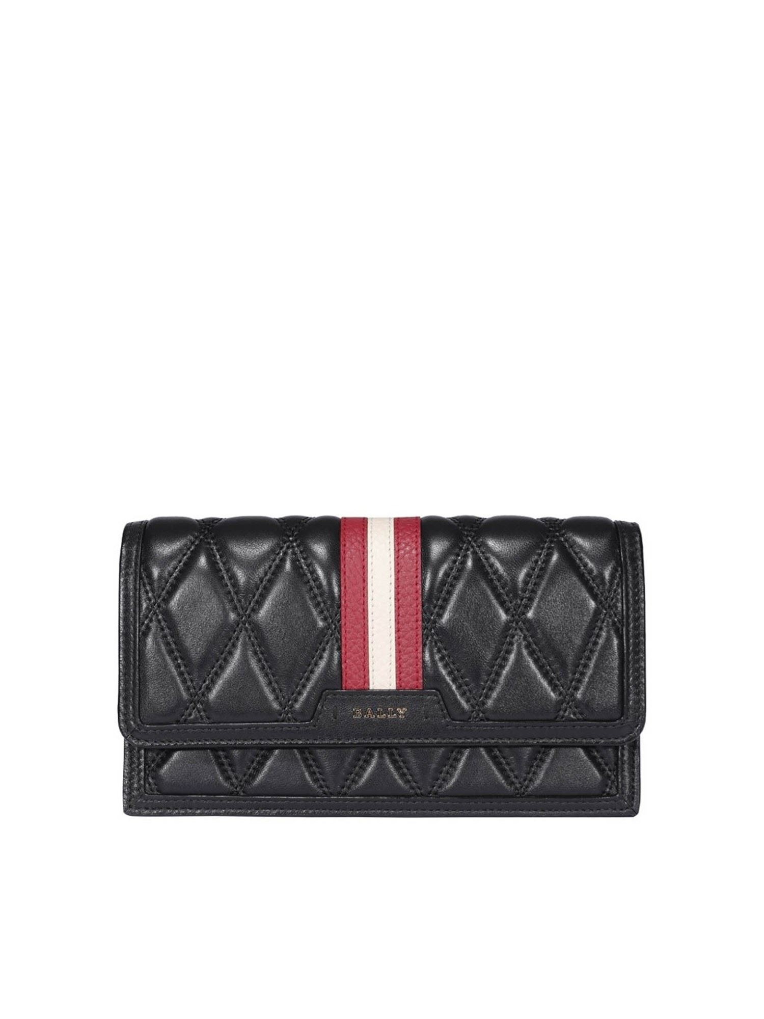 Bally REMOVABLE SHOULDER STRAP LEATHER CLUTCH