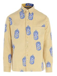 Jacquemus - Reversible Jacques Can print shirt in yellow