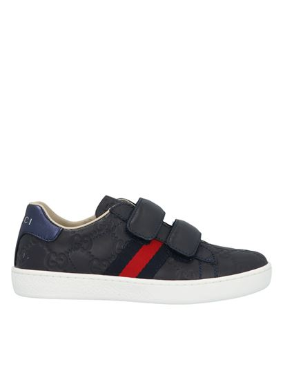 Gucci - Ace Web Signature sneakers in blue