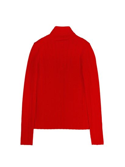 Gucci - GG patch ribbed turtleneck in red