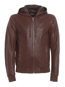 Dolce & Gabbana - Leather hooded jacket