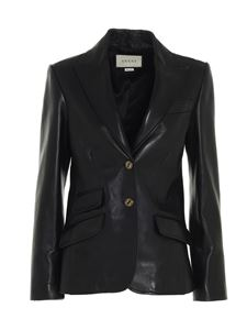 Gucci - Plongé leather blazer in black