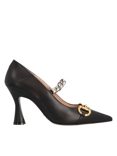 Gucci - Horsebit and chain décolleté in black