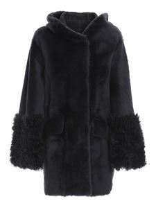 DROMe - Reversible shearling hooded coat