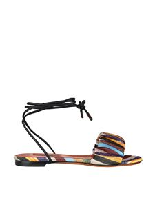 Missoni - Lamé knitted sandals in multicolor