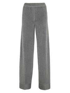 Missoni - Lamé palazzo pants in silver