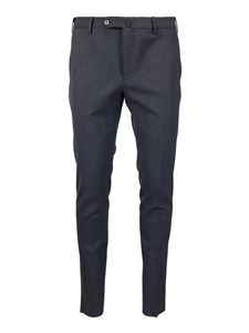 PT Torino - Mélange wool blend trousers