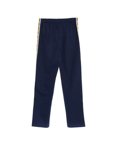 Gucci - Branded bands pants in blue