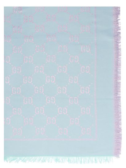 Gucci - GG scarf in lilac and light blue