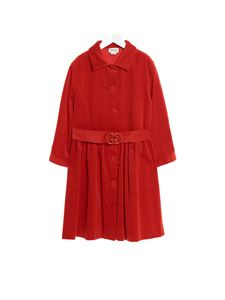 Gucci - Corduroy dress in red