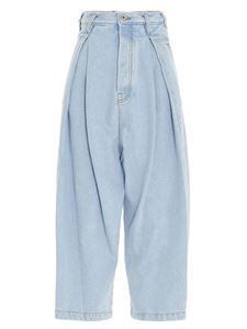 Loewe - Cropped oversize jeans in light blue