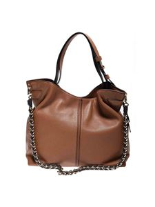Michael Kors - Borsa a spalla Downtown Astor marrone