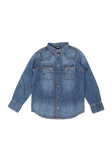 Diesel - Camicia in denim blu