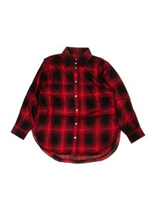 Diesel - Check shirt in red and black