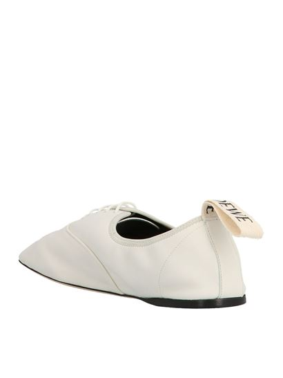 Loewe - Soft derby lace up shoes in white