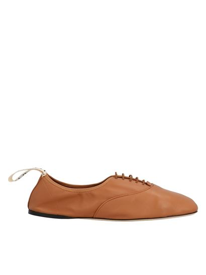 Loewe - Soft Derby lace up shoes in brown